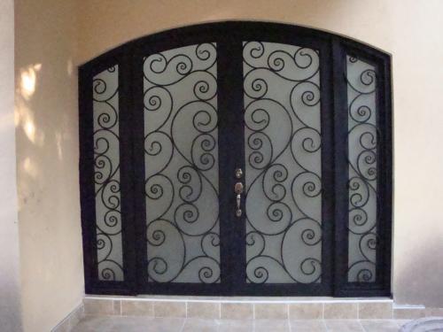Ventanas De Herreria En Arco 119 puerta con arco superior