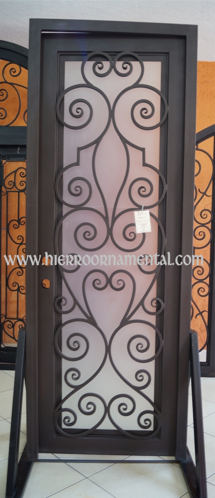 Puerta con forja detalle producto for Cuanto vale una puerta
