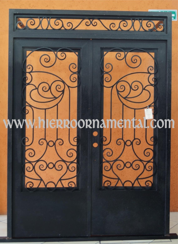 Puerta con forja detalle producto for Precio de puertas de forja