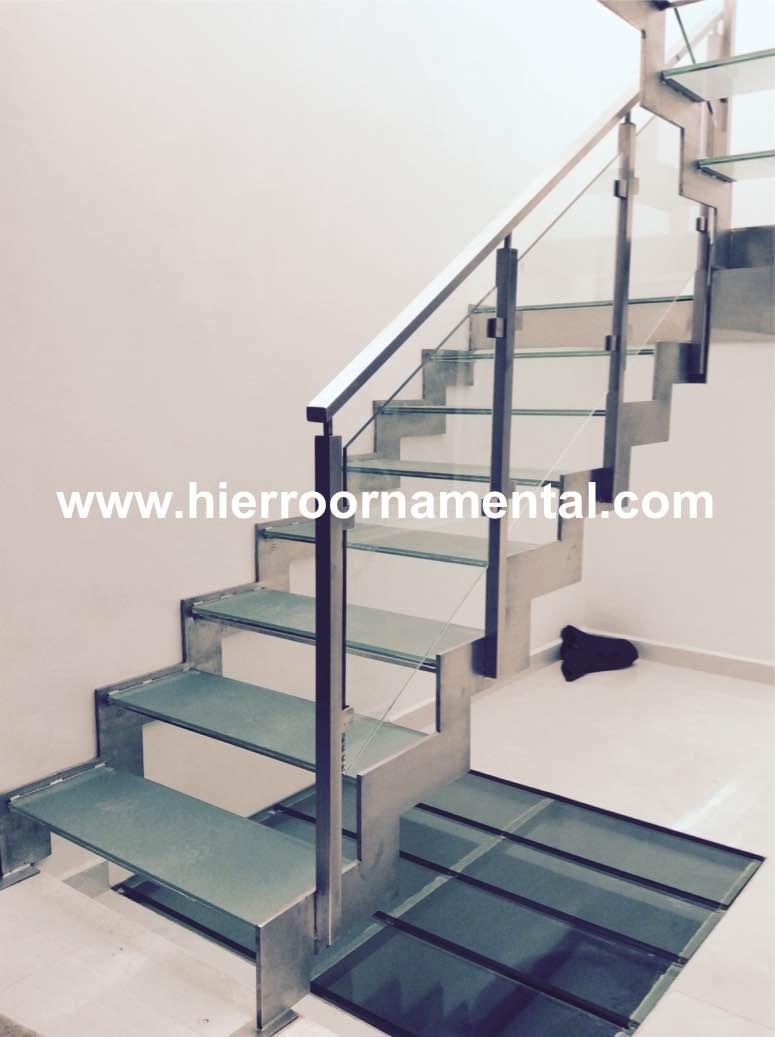 Productos de hierro forjado y acero inoxidable - Escaleras con cristal ...