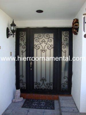 Puerta principal con forja detalle producto for Precio de puertas de forja