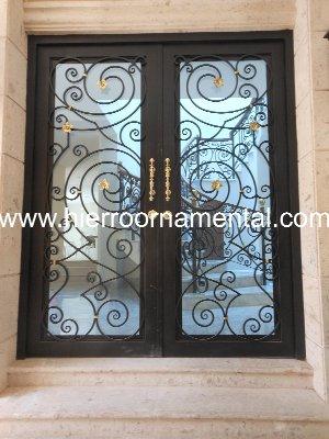Puerta de hierro forjado detalle producto - Puertas de hierro forjado para exteriores ...